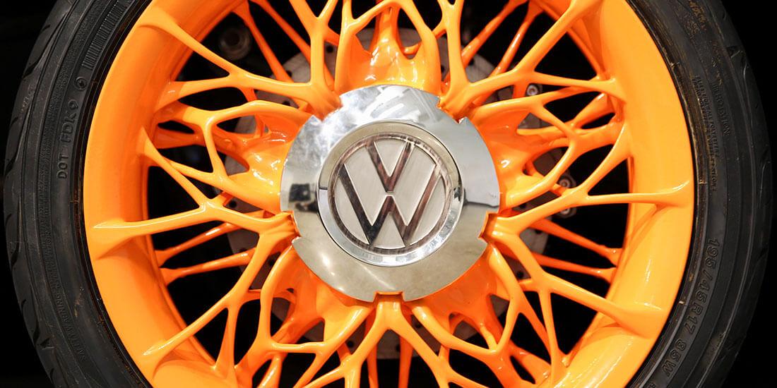 generative manufacturing vw steering wheel design