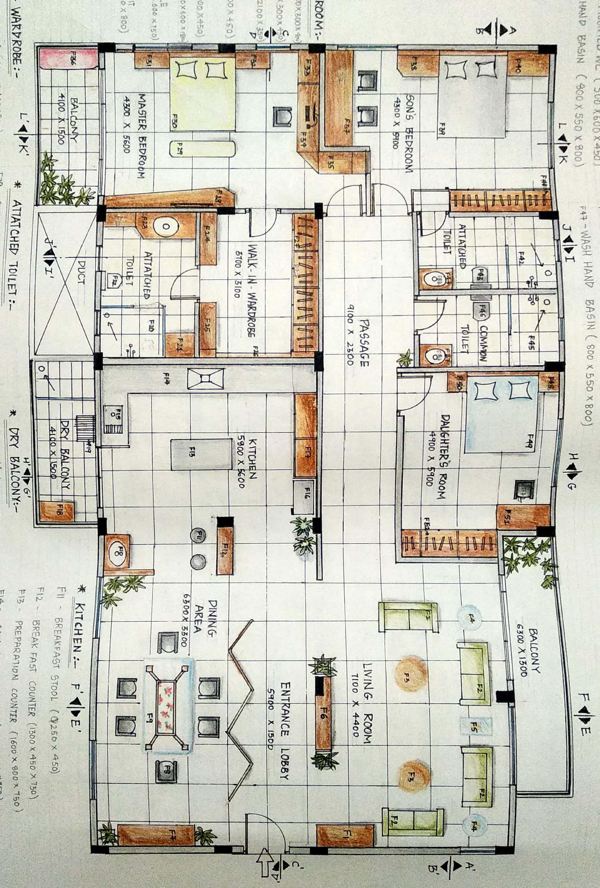 3BHK portfolio_2 jpg | Design Academy