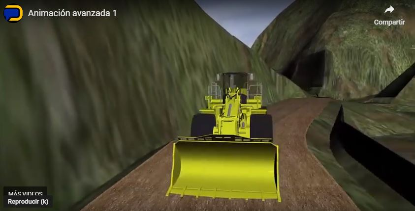 Animation of a front loader.