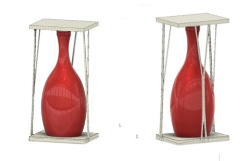 Modelo embalagem de garrafa desenvolvida com Generative Design