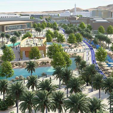 digital urban planning rendering of the plantations at jebel hafeet