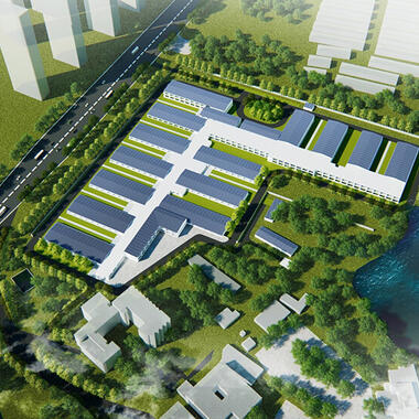 modular hospitals Huoshenshan Hospital in Wuhan, China