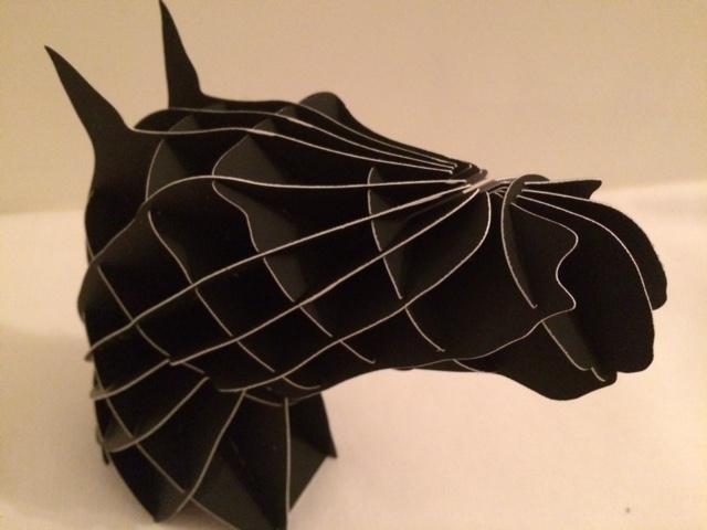 Horse Head paper model