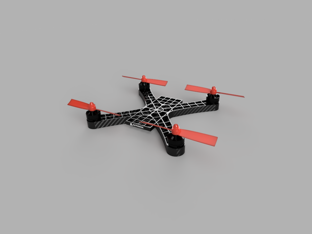Drone frame, acrobatic drone