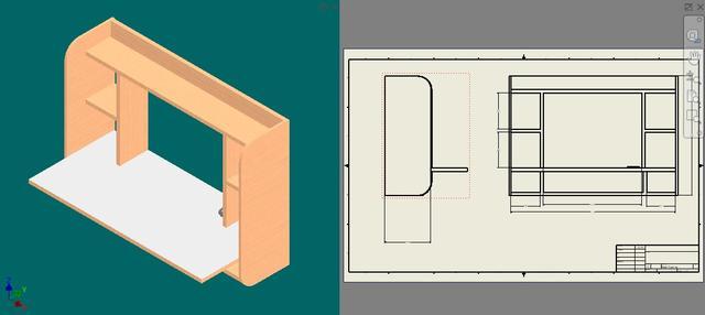 Wall Desk and Shelf