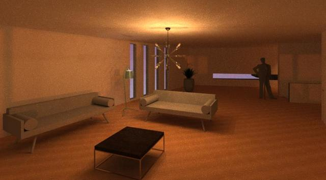 Interior Nocturno Sala