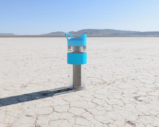 Mountain Bottle in a Desert View