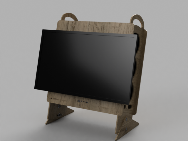 Wooden All In One Pc Computer Case
