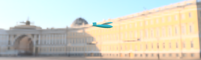 aircraft in front of the background