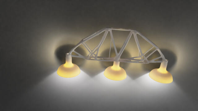 Light fixture of ABS plastic.
