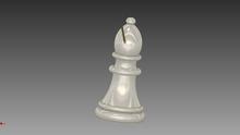 "Uma peça de xadres chamada ""Bispo"". One chess part called Bishop."