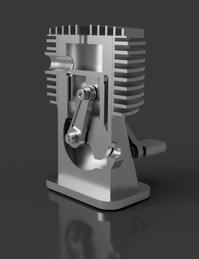 3D printed engine model